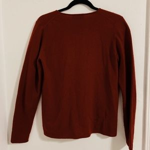 Charter Club Sweaters - Charter Club 100% Cashmere Deep Red Cardigan